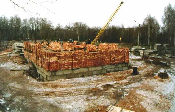 The construction of St Elisabeth Church