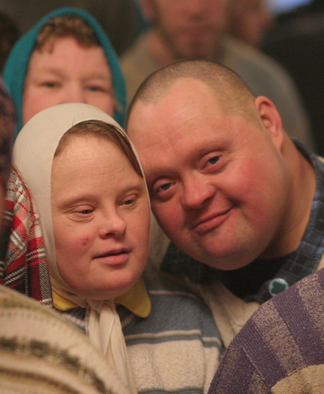 man and woman with Down syndrome