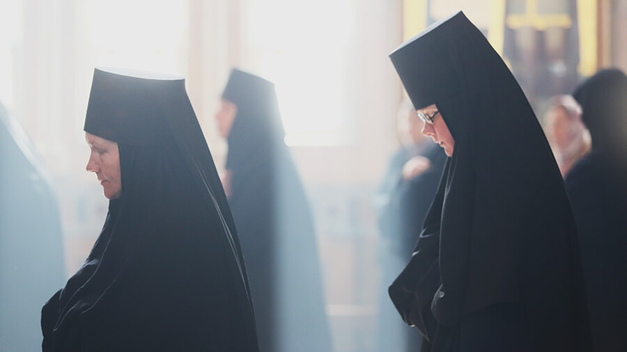 nuns at the church