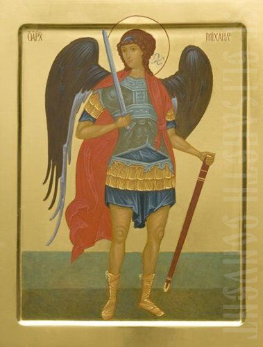 painted icon archangel mikhail