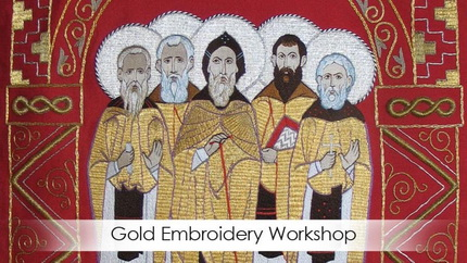 Gold embroidery workshop