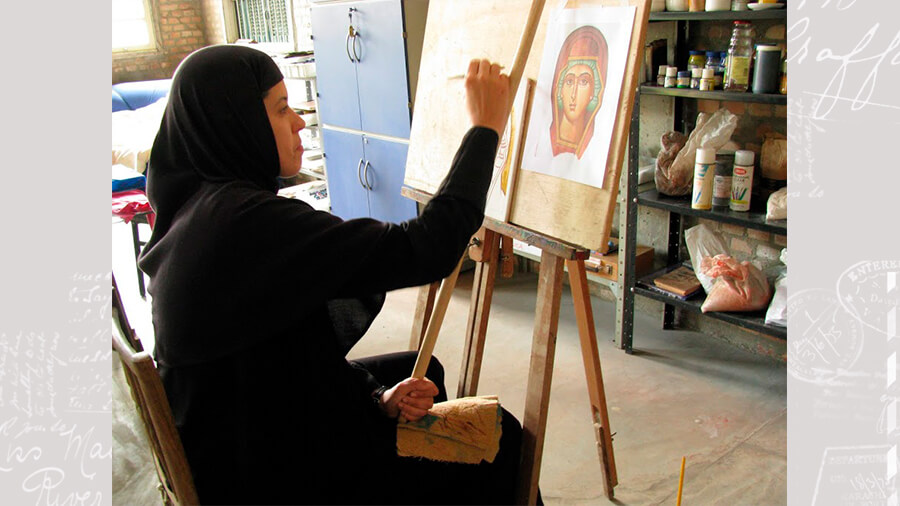 icon painting nun rebecca