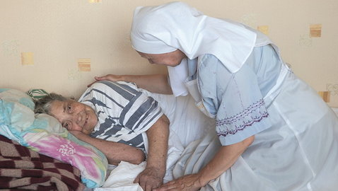 Visiting the homes of bedridden patients